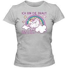 Jga 9 Einhorn T Shirt Junggesellinnenabschied Damen Regenbogen