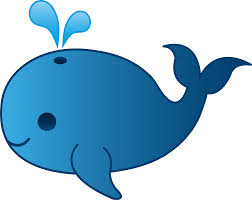 cartoon whale clipart clipartfest