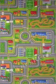 traffic play city street map kids rugs
