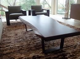 custom made walnut live edge coffee table