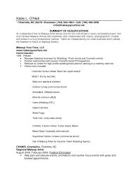 Resume Makeup Artist Freelance Elioleracom Makeup Artist Resume
