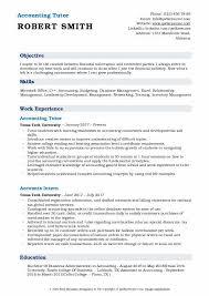 Accounting Tutor Resume Samples | Qwikresume