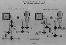 pool plumbing diagrams schematics and layouts for pool pipes pool and spa combination ozone and chemical feeder