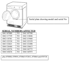 white knight recall tumble dryers due to fire risk white knight tumble dryer recall