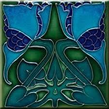 6X6 Decorative Ceramic Tile Art Nouveau decorative Ceramic tile 600 X 600 Inches 60 by 29