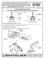 Track Lighting Clips Lightolier Lytespantrack Lighting System 6087 Users Manual