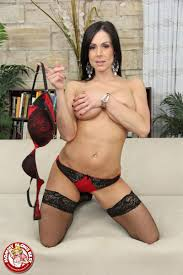 Kendra Lust gives hot blowjob in red lingerie and stockings My.