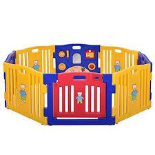 jaxpety baby playpen kids 8 panel safety play center yard home indoor outdoor new pen baby 7qdovitdp