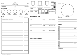 Rpg Character Sheet Designer Actualol Archives Up To Four Players