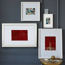 gallery frames white on wall art gallery frames with gallery frames white west elm