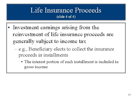 The proceeds from your life insurance policy are not usually subject to income tax, but estate taxes and other issues can be complex. Chapter 4 Gross Income Taxation Of Business Entities