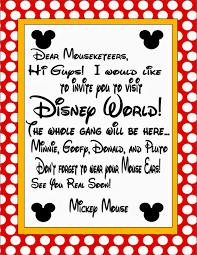 Disney Letter general