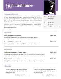 Free Resume Templates Doc Template