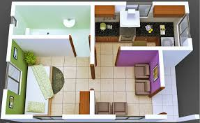 One Room Living Design Bedroom And Kitchen In One Room