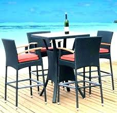 outdoor high table outdoor bar height dining table and chairs patio patio bar table high top