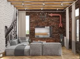 exposed brick bedroom design ideas. Decorating Ideas Industrial Style Home With Exposed Brick Walls Bedroom Design S