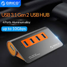 <b>ORICO</b> Transparent <b>4 7 Port</b> USB3.0 HUB With Dual Power Supply ...
