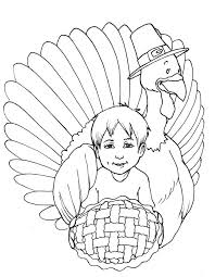 Small Picture Kid And Turkey Coloring Pages Printable Thanksgiving