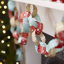 Paper Christmas Tree Ornaments Ten Metres Vintage Christmas Paper Chain Decorations Discover