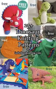<b>Dinosaur</b> Knitting <b>Patterns</b> - In the Loop Knitting