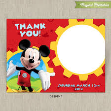 Disney Mickey Mouse Clubhouse Printable Birthday Thank You