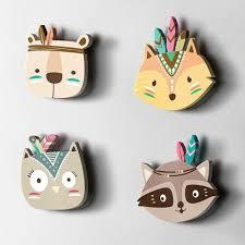wall decals stickers eg wooden fox