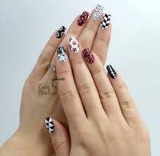 Red And White Nail Designs Mix Match Red Black White Nail Art Design Lucys Stash