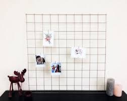 Kitchen Memo Boards Gray Wire Wall Grid FREE CLIPS Wire Mesh Memo Board Notice 94