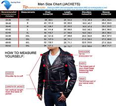 Leather Jacket Size Chart Easy Rider Sheep Leather Jacket Biker Jacket Leather Xs 3xl