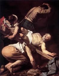 michelangelo merisi da caravaggio paintings the crucifixion of saint peter 1600