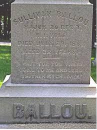 Sullivan Ballou Headstone