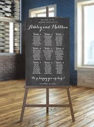 Blackboard Seating Chart Wedding Seating Chart Printable Chalkboard Guest List
