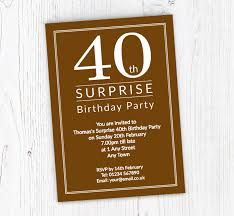 40th Birthday Invitations Surprise 40th Birthday Party Invitations