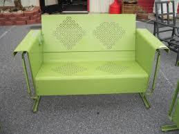 outdoor glider rocker. Retro Green Metal Love Seat/ Glider Rocker Outdoor Furniture