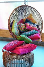 bohemian chic furniture. Boho Chic Furniture Shabby Bohemian Style Ethno Pillow Braided Stool Suspension Seat Rattan Swing R