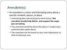 anecdotes examples for essays binary options example cause and effect examples of anecdotes in essays