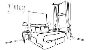bedroom clip art black and white page