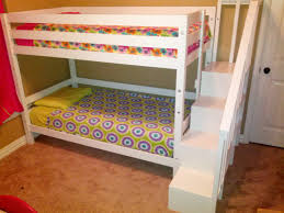 bunk bed with stairs. Classic Bunk Bed With Sweet Pea Stairs