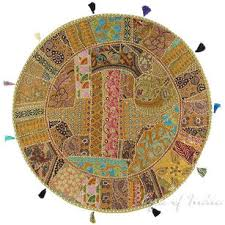 ethnic floor cushions. Simple Ethnic Sentinel Light Brown Round Decorative Seating Bohemian Colorful Floor  Cushion Boho Meditation Pillow Cover  40 Throughout Ethnic Cushions U