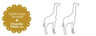 Giraffe Printable Template Printable Giraffe Shape Template Printable Treats Com