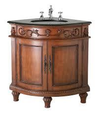 Dark Bathroom Vanity Beautiful Belle Foret Dark Oak Corner Bathroom Vanity Review