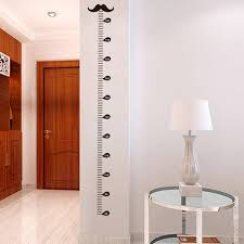 Diy Height Chart Cartoon Moustache Growth Chart Wall Art Decals Living Room Home Decorations Diy Stickers Kids Gift Height Measure Chart D19011702 Wall Stickers For