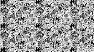 Comics Black And White HD Desktop Wallpaper : Widescreen : High .
