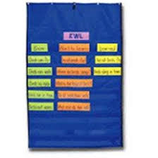 Carson Dellosa Cd 5634 Pocket Chart Original Plus Blue 34 X 52