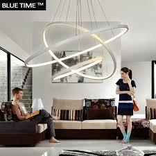 fashional super thin modern chandeliers circle rings led chandelier light for indoor lighting ac 85 260v 40cm 60cm 80cm 100cm