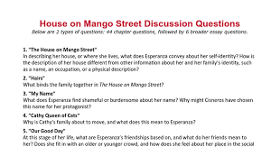 house on mango street discussion questions google docs