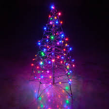 led outdoor lighted trees