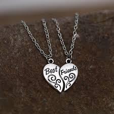 puzzle necklace broken heart