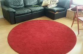 ikea red circle rug area ideas