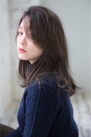 黒髪前髪なし大人の色っぽミディアムヘア特集前編
